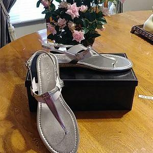Pretty silver sandals NIB